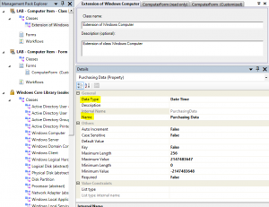 Add Purchasing Data to Computer Form in Service Manager8