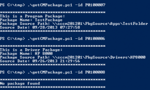 Configuration Manager 2012 SP1 Find package from ID with PowerShell