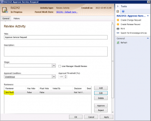 Get Service Managers Reviewer Display Name with Orchestrator0