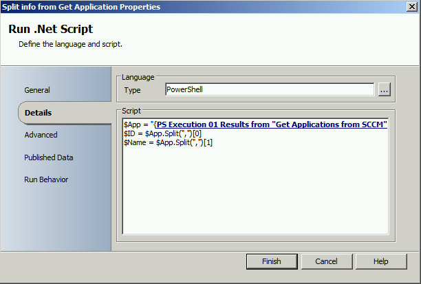 Generate AD group with SCO when new SCCM 2012 Application is created3