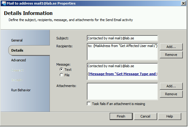 Send SCSM E-Mail with different sender (from) addresses10