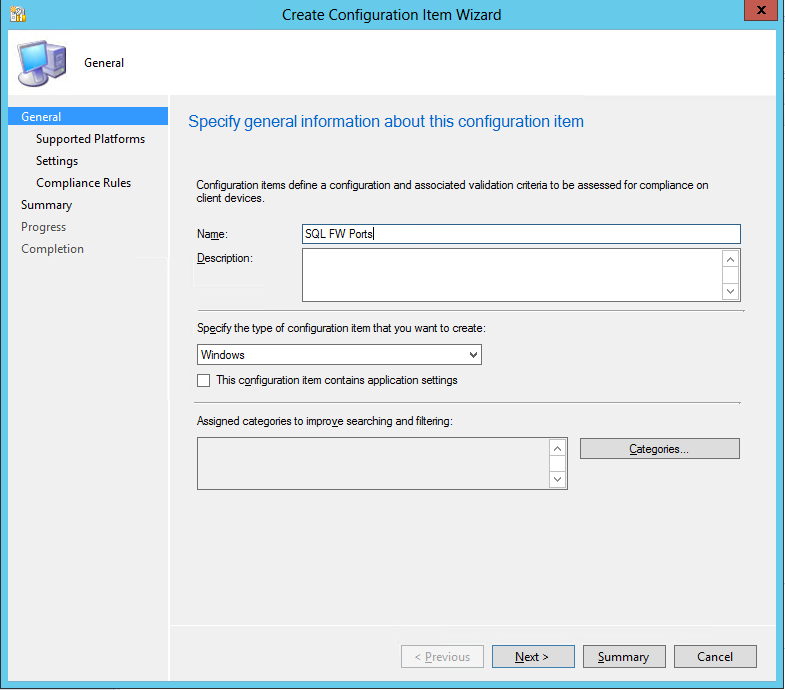 Check Firewall port compliance by Configuration Manager 2012