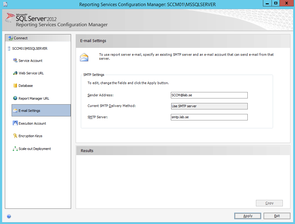E-mail Configuration Manager 2012 (SCCM) reports on a schedule
