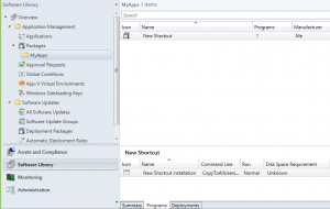 Deploy a shortcut with SCCM 20122