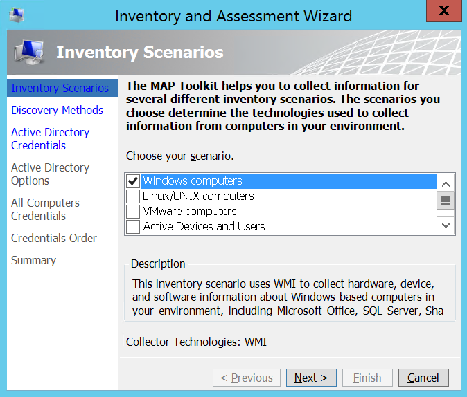 use microsoft assessment and planning toolkit to do inventory of the