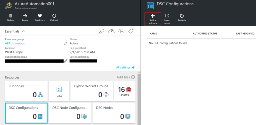 Install and configure an Apache web server on Linux with DSC and Azure Automation2