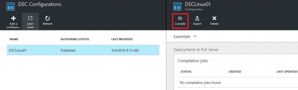 Install and configure an Apache web server on Linux with DSC and Azure Automation3