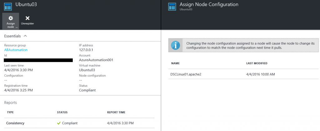 Install and configure an Apache web server on Linux with DSC and Azure Automation6