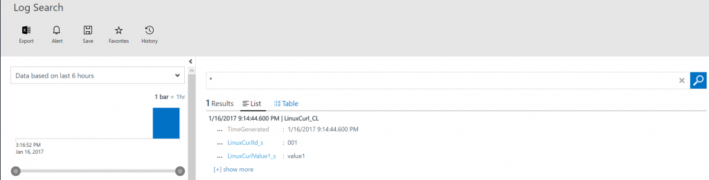 Send data to OMS Log Analytics with Curl from a Linux server2