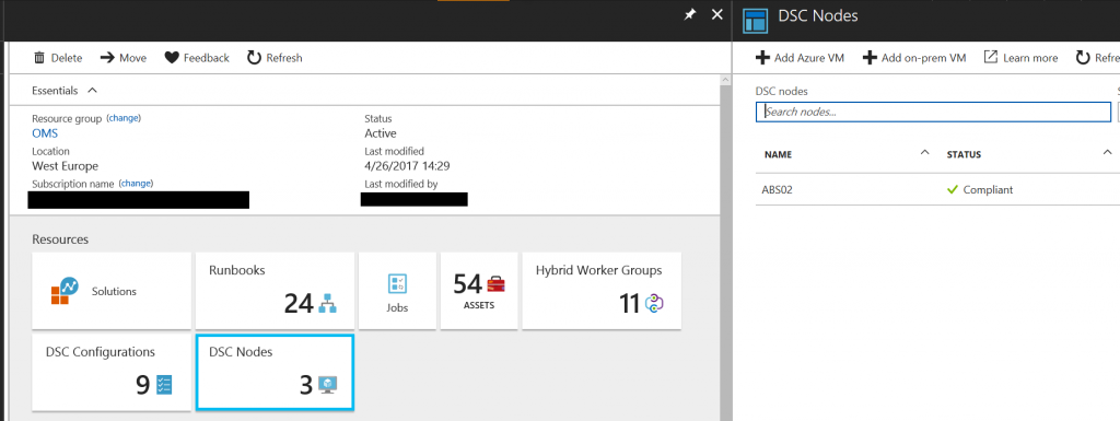 Monitor Azure DSC in Azure Automation with Azure Log Analytics 3