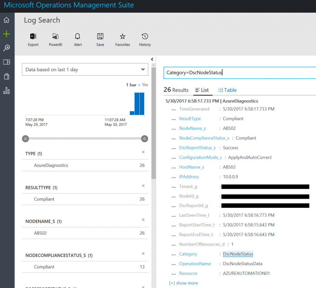Monitor Azure DSC in Azure Automation with Azure Log Analytics 4