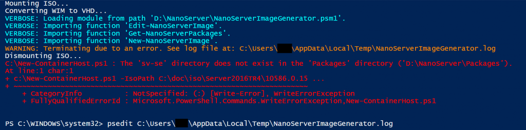 Creating Nano Container VM with New-ContainerHost.ps1 script and not language en-us1